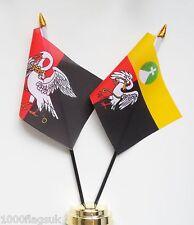 Buckinghamshire & Buckinghamshire Civil County Double Friendship Table Flag Set