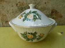 Antigua sopera de cerámica de Digoin Sarreguemines modelo PROMOROSE art pop