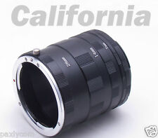 Macro Extension Tube Ring Kit Canon Camera EOS 10D,D30,D60,50D,40D,30D,20D,1Ds