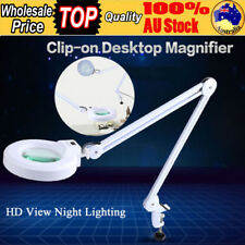 NEW 5X Magnifying Lamp 5 Inch SMD 5 Diopter Magnifier Table Clamp Light White