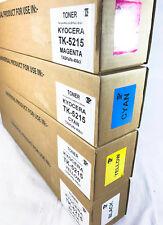 Set of 4 Remanufactured Toners for Kyocera Mita TK-5215 TASKalfa 406ci (NON OEM)