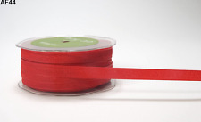 3/8 Inch Solid Two Tone Ribbon - May Arts AF44 - Red - 5 yards
