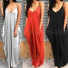 S-5XL Zanzea Plus Women V Neck Strappy Hippie Club Skirt Dress Long Maxi Dress