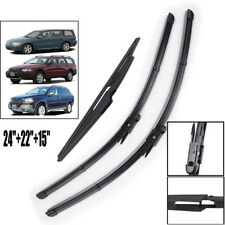 3PCS/Set Front Rear Wiper Blades Kit Fit For Volvo XC90 XC70 V70 2004 2005 2006