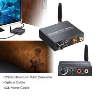 Bluetooth DAC Digital Optical Coaxial Toslink to Analog RCA Audio Converter