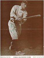 TY Cobb Vintage Autograph Signed 8x10 Photo ( HOF Tigers ) REPRINT