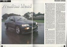 1992 FORD ESCORT COSWORTH Road Test article, from British auto magazine