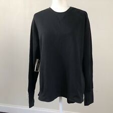 Nike Women's Dri-Fit UV LS Black Thumbholes Zipped PocketS Golf Sweater Sz 2XL