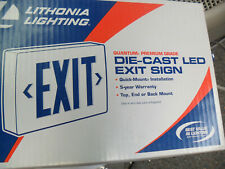 LITHONIA LIGHTING, LED EMERGENCY EXIT SIGN, LQC 1 G, DIE-CAST BATTERY BACK-UP
