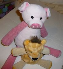 Scentsy Buddies Lot Retired Penny Pig and Baby Roarbert the Lion 1 Scent Pak EUC
