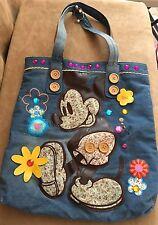 Walt Disney World tag Mickey Mouse denim Shoulder Bag Tote purse Tren-D vintage