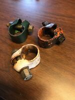 Lot 3 Vintage Bicycle Seat Clamp Schwinn Elgin Monark Columbia Roadmaster (h)