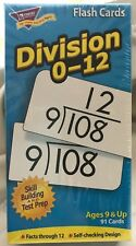 TREND Division 0-12 Flash Cards Ages 9 & Up Skill Building & Test Prep Math