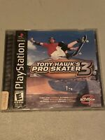 Tony Hawk's Pro Skater 3 Black Label Playstation 1 PS1 Complete Tested Free Ship