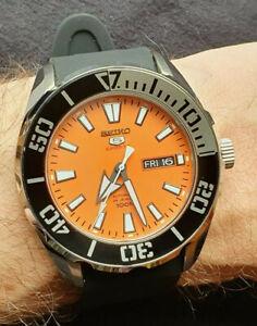 Seiko 5 Sports diver Orange dial - SRPC55K1 24 jewel automatic MINT