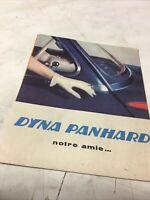 Panhard Dyna  catalogue brochure prospectus publicité