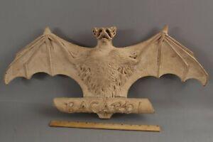 RARE Unique 19thC Antique Bacardi Rum, Life-Size Bat Prototype Logo Sign