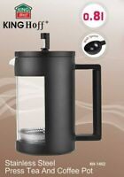 Coffee Maker Cafetiere Tea Infuser Plunger Tea Press Black 800 ml with Spoon