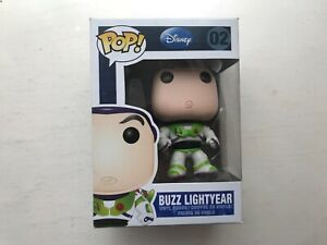 BOXED FUNKO POP VINYL #02 TOY STORY BUZZ LIGHTYEAR FIGURE ORIGINAL DISNEY SERIES