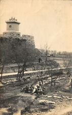 CHINA WEI HAI WAI VIEW OF WATCHTOWER CITY WALLS USED HK STAMP PHOTO POSTCARD