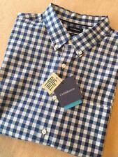 Big & Tall Mens Cotton Comfort Stretch Woven Plaid Shirt Short Sleeved - XLT