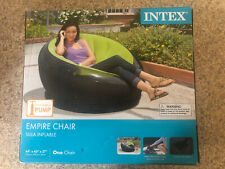 INTEX Empire Indoor Inflatable Blow Up Dorm Room Lounge Air Chair, Lime Green