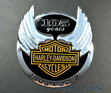 NEW For Harley Davidson 105th Anniversary 3D Metal Chrome Trunk Emblem BADGES