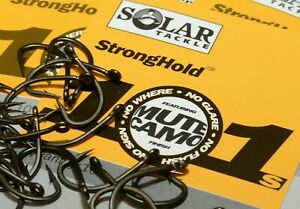 New Solar Tackle Stronghold 101 Extra Sharp&Strong Hooks All Size - Carp Fishing