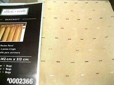 Allen Roth BANCROFT Rod Pocket Drape Curtain Panel Beige 56 x 84L long New
