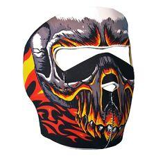 RED EVIL SKULL Full Face Mask Motorcycle Halloween Snowboarding Biker Ski Flames
