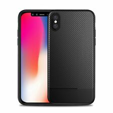 For Apple iPhone X 8 7 Black Armor Soft Flexible TPU Slim Case Cover 2018 New