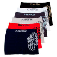 3 Mens Microfiber Boxer Briefs Underwear Seamless Compression Knocker Underpants