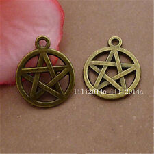 15pc Pentagram Pendant Charms Accessories Antique Bronze Wholesale  PL213