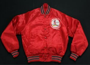 Rare VTG CHALK LINE St. Louis Cardinals Satin Varsity Jacket 80s 90s Youth 10/12