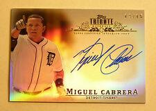 2013 MIGUEL CABRERA 12/15 Tribute Autograph Auto Signed Detroit Tigers COAoncard