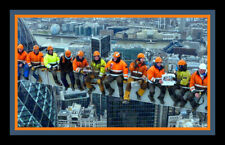 Chicago iron workers recreate the iconic Lunch atop a Skyscraper 8 x 10 RARE