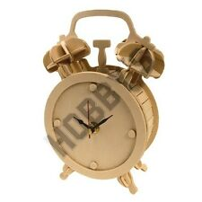 Alarm Clock: Wood Craft Assembly Wooden Construction Clock Kit