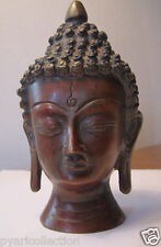 COPPER FINISH BUDDHA HEAD STATUE HOME DECOR SCULPTURE TABLE DECOR BRASS STATUE