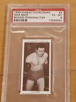 1938 Churchman Max Baer Boxing Personalities PSA 6 EX-MT