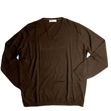 Brunello Cucinelli Cashmere Pullover V-Neck Sweater 58 Brown Italy