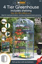 4-stufiges Mini Gewächshaus & Regale Blumenkübel Pflanzen Schuppen transparent S...