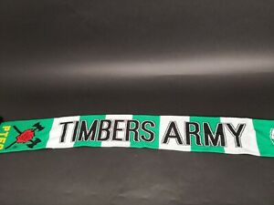 Portland Timbers Army Scarf - No Pity - SUPER RARE - BLACK Fringe - green/white