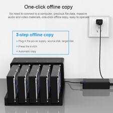 "5-Bay SATA 2.5"" 3.5"" Hard Drive Clone Docking Station USB3.0 Off-line Duplicator"