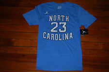 NEW Men's #23 Michael Jordan North Carolina Tarheels Jersey T-Shirt (Large)