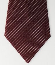 Maroon pin striped tie sober business clothes British BHS Formal vintage 1980s