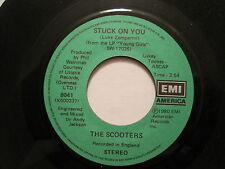 THE SCOOTERS - STUCK ON YOU/CLARA - 45 CDN 80s POWER POP rare  oop L@@K