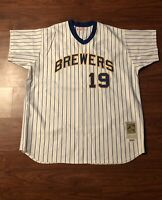 Vintage Mitchell & Ness Milwaukee Brewers Robin Yount Jersey Size 3XL From 2003