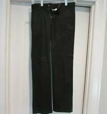 Chaps Boys' Approved Schoolwear Black Pants Size 12 Flat Front Adjustable Waist