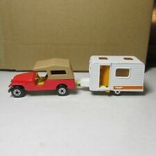 OLD DIECAST LESNEY MATCHBOX SUPERFAST NO. 53 AND 31 JEEP CARAVAN CAMPER ENGLAND