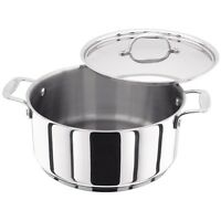 Stellar 7000 Casserole 24cm Stainless Steel Induction Dishwasher & Oven Safe